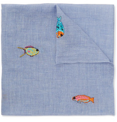 Paul Smith - Embroidered Cotton Pocket Square