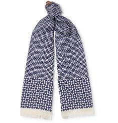 Paul Smith Printed Cotton and Silk-Blend Scarf