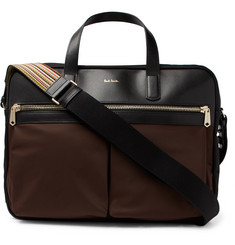 Paul Smith Nylon and Leather Briefcase