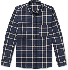 A.P.C. Felix Checked Cotton and Linen-Blend Shirt