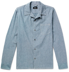 A.P.C. Luca Striped Cotton Shirt