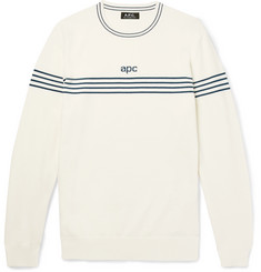 A.P.C. Striped Cotton and Cashmere-Blend Sweater