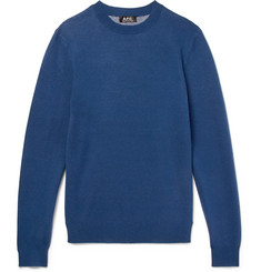 A.P.C. - Intarsia Cotton and Cashmere-Blend Sweater