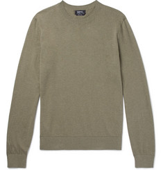 A.P.C. - Thierry Cotton and Cashmere-Blend Sweater