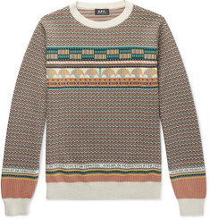 A.P.C. Fair Isle Cotton Sweater