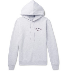 A.P.C. - Logo-Print Loopback Cotton-Blend Jersey Sweatshirt
