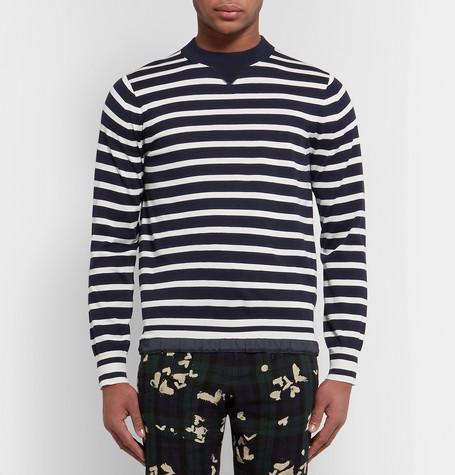 Striped Cotton Sweater by Sacai