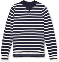 Sacai - Striped Cotton Sweater