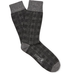 Kingsman - + Corgi Checked Cotton-Blend Socks