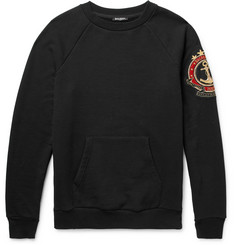Balmain Appliquéd Loopback Cotton-Jersey Sweatshirt