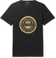 Balmain Printed Cotton-Jersey T-Shirt