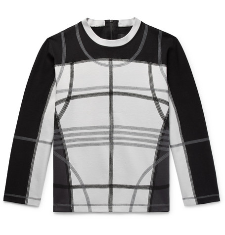Contrast Stitched Loopback Cotton Blend Jersey Sweatshirt by Craig Green
