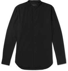 rag & bone Mulholland Grandad-Collar Selvedge Cotton-Twill Shirt