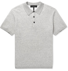 rag & bone Tripp Knitted Cotton-Blend Polo Shirt