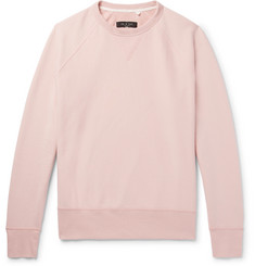 rag & bone Racer Loopback Cotton-Jersey Sweatshirt