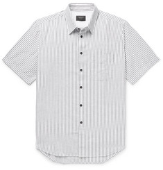 rag & bone - Fit 3 Beach Striped Cotton and Linen-Blend Shirt