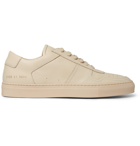 Common Projects Bball Leather Sneakers - Sand