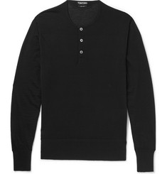 TOM FORD Slim-Fit Cashmere Henley T-Shirt