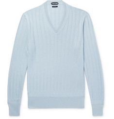 TOM FORD - Cashmere and Silk-Blend Sweater