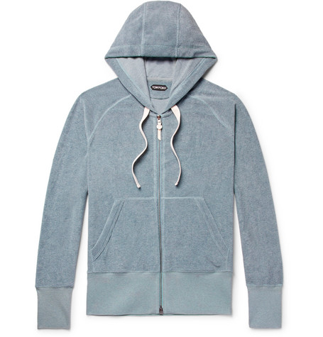 Cotton Terry Zip Up Hoodie by Tom Ford
