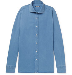TOM FORD Slim-Fit Cotton and Lyocell-Blend Chambray Shirt