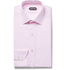 TOM FORD - Pink Slim-Fit Cotton-Poplin Shirt