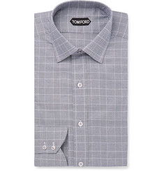 TOM FORD Prince of Wales Checked Cotton Shirt