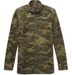 TOM FORD Camouflage-Print Poplin Shirt