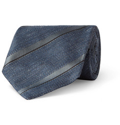 TOM FORD 8cm Striped Linen and Silk-Blend Jacquard Tie