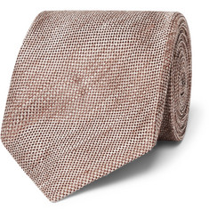 TOM FORD - 8cm Linen and Silk-Blend Tie