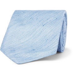 TOM FORD - 8cm Slub Linen and Silk-Blend Tie