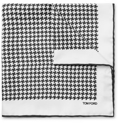 TOM FORD - Houndstooth Silk Pocket Square