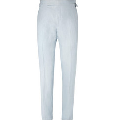 TOM FORD Light-Blue O'Connor Linen Suit Trousers