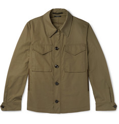 TOM FORD Cotton-Blend Twill Field Jacket