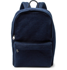A.P.C. Benjamin Leather-Trimmed Denim Backpack