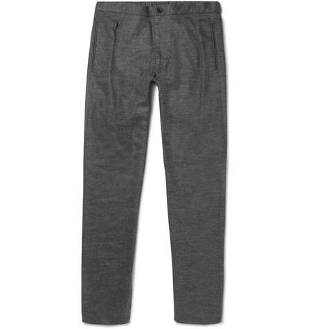 Slim-fit Pleated Wool-blend Trousers - NavyCamoshita Pas Cher En Vente Achats En Ligne 100% D'origine Prix Pas Cher Vrai Jeu Achat fGdreGbk