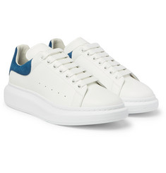 Alexander McQueen - Larry Exaggerated-Sole Leather Sneakers