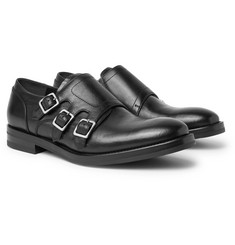 Alexander McQueen - Full-Grain Leather Monk-Strap Shoes