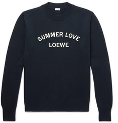 Loewe - Embroidered Wool and Cotton-Blend Sweater