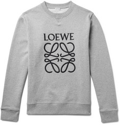 Loewe Slim-Fit Embroidered Loopback Cotton-Jersey Sweatshirt