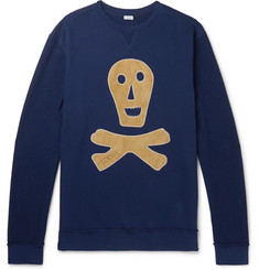 Loewe Oversized Suede-Appliquéd Loopback Cotton-Jersey Sweatshirt
