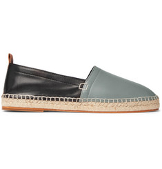 Loewe Two-Tone Leather Espadrilles