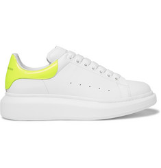 Alexander McQueen Larry Exaggerated-Sole Leather Sneakers