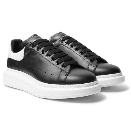 Larry Exaggerated-sole Leather Sneakers - Black