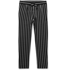 Haider Ackermann - Pinstriped Satin Drawstring Trousers