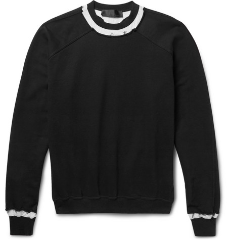 Raw Edged Loopback Cotton Jersey Sweatshirt by Haider Ackermann