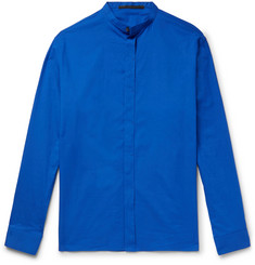 Haider Ackermann Grandad-Collar Cotton-Poplin Shirt