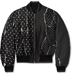 Haider Ackermann Polka-Dot Twill Bomber Jacket
