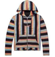 AMIRI Baja Striped Cotton Zip-Up Hoodie
