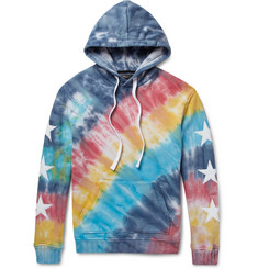 AMIRI Appliquéd Tie-Dyed Loopback Cotton-Jersey Hoodie